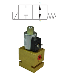 Max 23 L/Min / 350 Bar 2.Way 2.Position Open Spool Type Direct Acting Valve