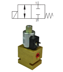 Max 23 L/Min / 350 Bar 2.Way 2.Position Closed Spool Type Direct Acting Valve