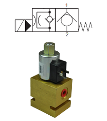 Max 45 L/Min / 350 Bar 2.Way 2.Position Closed Poppet Type Pilot Operated Valve (Restricted reverse flow)